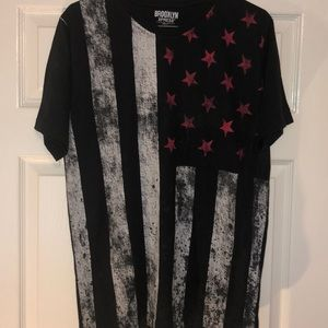 Red White and Black American Flag T-Shirt